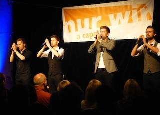 "A cappella mit dem Kieler Ensemble ""nur wir""."